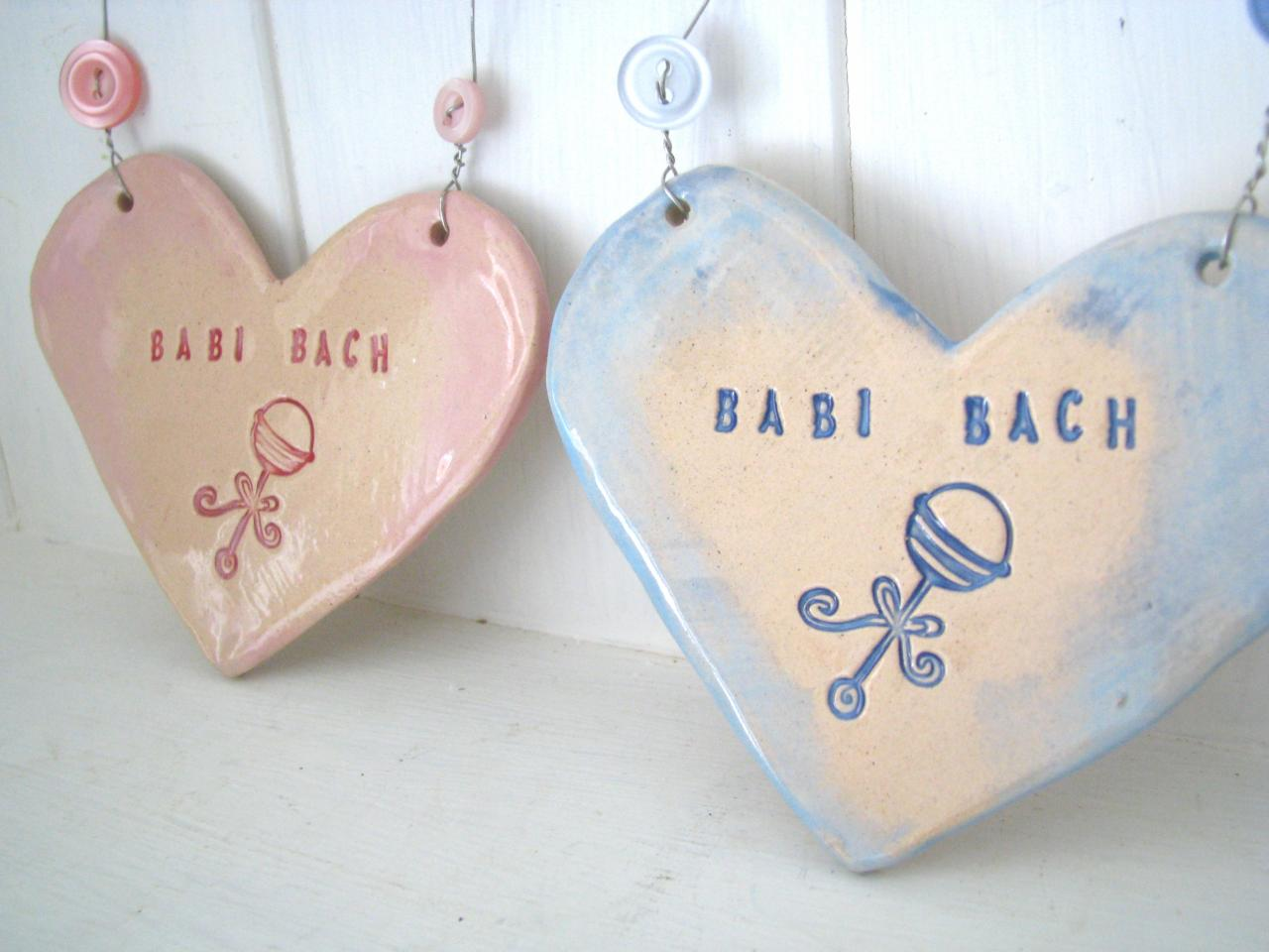 Babi Bach (Little Baby in Welsh) Heart - handmade in Wales, UK